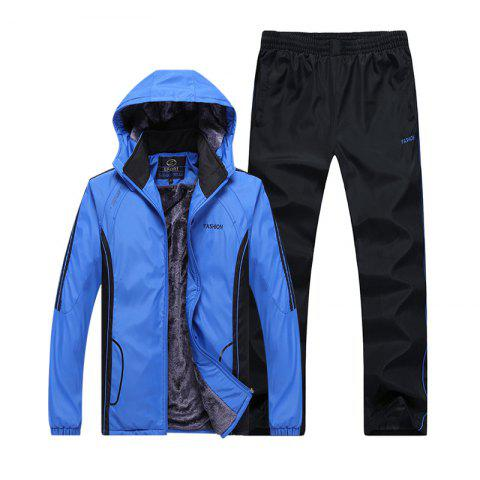 Shop Autumn and Winter Plus Velvet Men'S Sportswear Suit Thick Warm Casual Outdoor Windbreaker