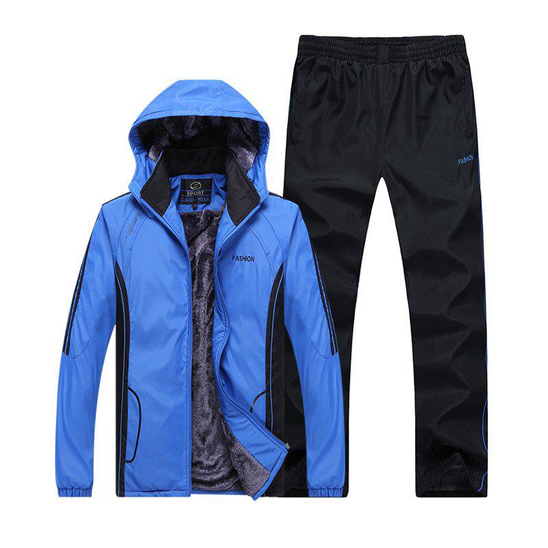 Buy Autumn and Winter Plus Velvet Men'S Sportswear Suit Thick Warm Casual Outdoor Windbreaker