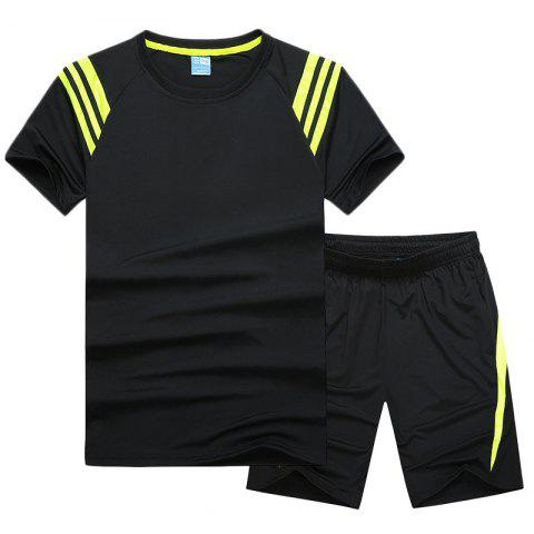 Trendy Men'S Sportswear Cotton Shorts T-Shirt Fitness Running Basketball Wear