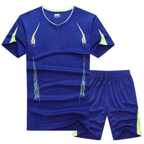 Shops Summer Men'S Sports Suit Fitness Running Clothes Short-Sleeved Quick-Drying T-Shirt Pants Pants Basketball Clothes