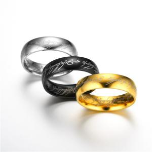 Jewelry Stainless Steel Rings Lord of The Rings Men and Women Couples Titanium Steel Rings -