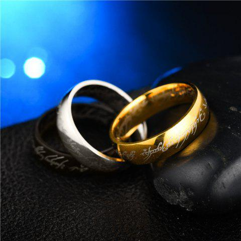 Unique Jewelry Stainless Steel Rings Lord of The Rings Men and Women Couples Titanium Steel Rings