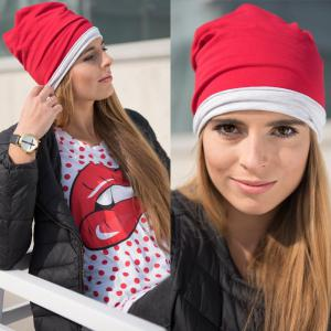 2017 European and American Double-sided Cotton Hat Pure Color Hat -