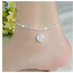 Europe and The United States Fashion Personality Love Full Diamond Foot Chain Wild Sexy Heart Foot Jewelry -