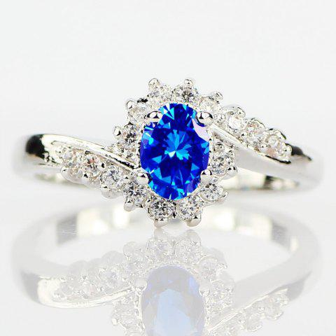 Chic Exquisite 925 Sterling Silver Natural Sapphire Gemstones Birthstone Bride Princess Wedding Engagement Strange Ring Size 6 7 8 9 10