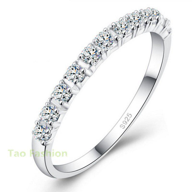 2019 New Design Wedding Rings Women 925 Sterling Silver Simulated