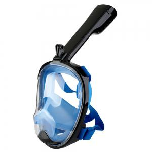 Full Face Snorkel Mask 180DEGREES Panoramic View Swimming Goggles with Anti-Fog Anti-Leak Anti-Vertigo Technology -