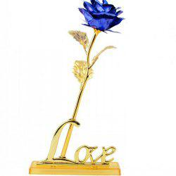Annaversary Gifts for Her Wife Girlfriend Mother Personalized Unique Gifts Artificial Forever Love Rose with Bracket -