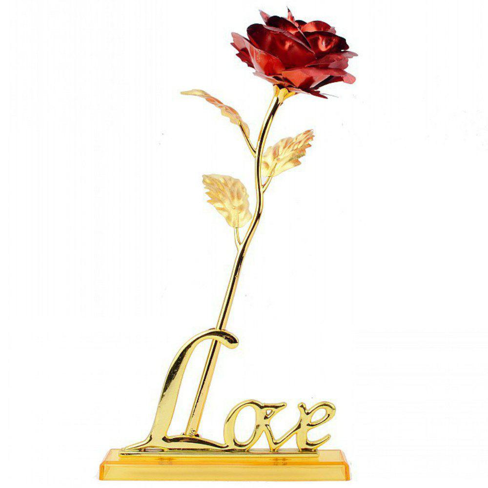 Affordable Annaversary Gifts for Her Wife Girlfriend Mother Personalized Unique Gifts Artificial Forever Love Rose with Bracket