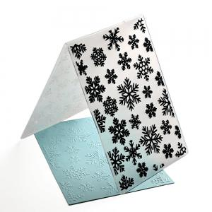 Plastic Embossing Folder Snow Christmas DIY Scrapbooking Photo Album Paper Craft Decoration Template Mold Card 2PCS -