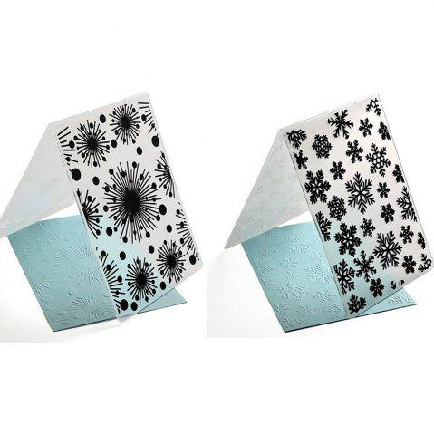 New Plastic Embossing Folder Snow Christmas DIY Scrapbooking Photo Album Paper Craft Decoration Template Mold Card 2PCS
