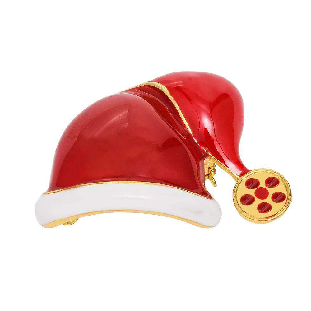 Fashion Fashion Christmas Hat Brooch Santa Claus Hat Christmas Gift Jewelry For Women Kids Red Brooches
