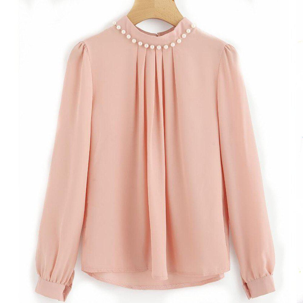 Unique Nailed Long Sleeved Chiffon Shirt