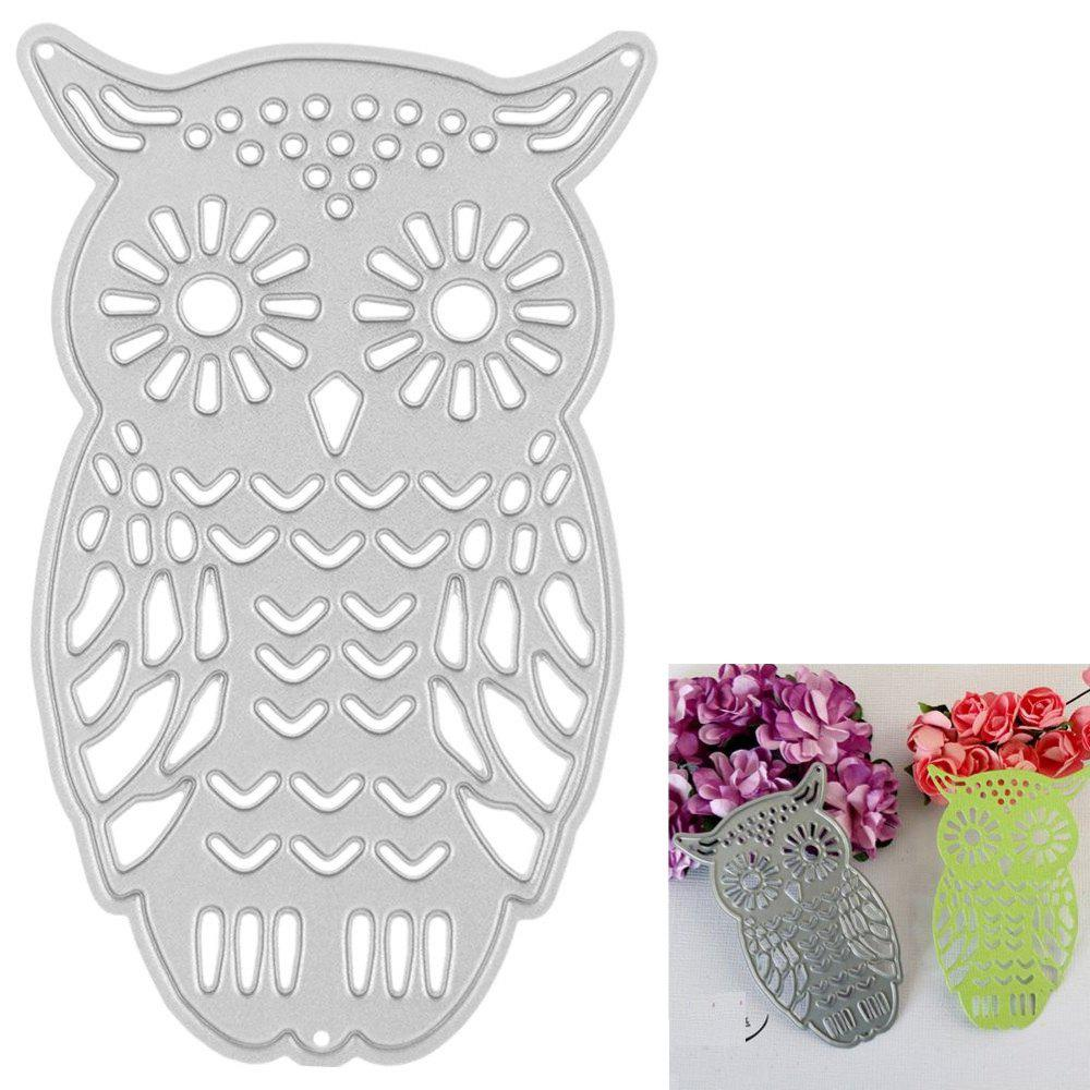 Best Owl Embossing Cutting Dies Stencils Metal DIY Scrapbooking Decorative Metal Craft