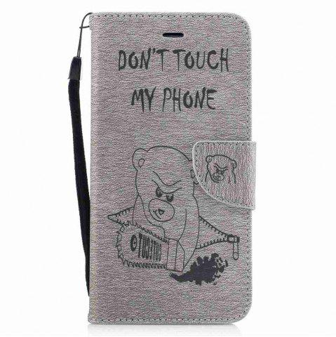 Shops Embossed Electric Bear PU TPU Phone Case for iPhone 7 Plus  / 8 Plus