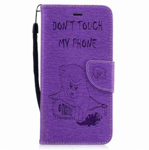 Outfit Embossed Electric Bear PU TPU Phone Case for iPhone 7 Plus  / 8 Plus