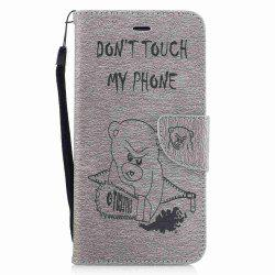 Embossed Electric Bear PU TPU Phone Case for iPhone 7 Plus  / 8 Plus -