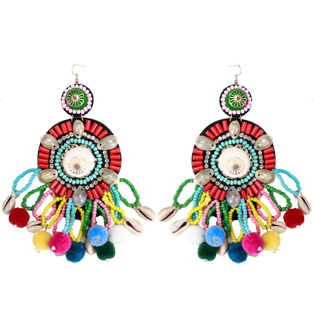 Outfit New Product Multi - layer Tassel Shell Shell  Earrings