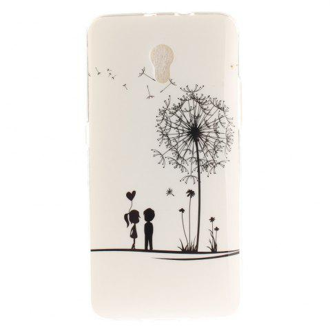 Cheap A Lover and A Dandelion Soft Clear IMD TPU Phone Casing Mobile Smartphone Cover Shell Case for ZTE Blade V7