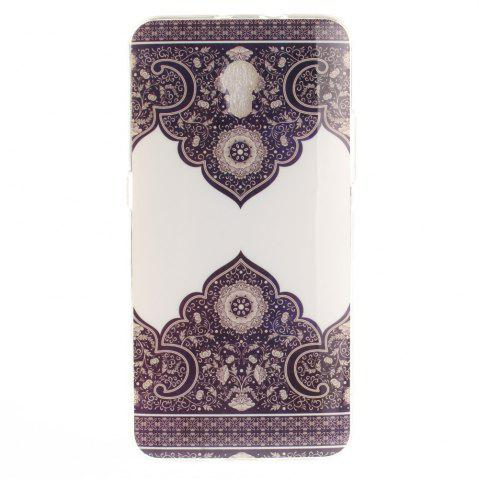 Shop Diagonal Totem Soft Clear IMD TPU Phone Casing Mobile Smartphone Cover Shell Case for ZTE Blade V7