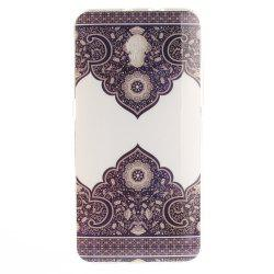 Diagonal Totem Soft Clear IMD TPU Phone Casing Mobile Smartphone Cover Shell Case for ZTE Blade V7 -