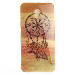 Windbell Pattern Soft Clear IMD TPU Phone Casing Mobile Smartphone Cover Shell Case for ZTE Blade V7 -