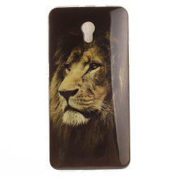 Lion Soft Clear IMD TPU Phone Casing Mobile Smartphone Cover Shell Case for ZTE Blade V7 -