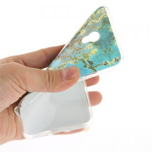 Apricot Blossom Pattern Soft Clear IMD TPU Phone Casing Mobile Smartphone Cover Shell Case for ZTE Blade V7 -