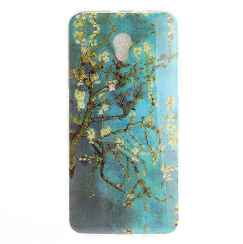 Outfit Apricot Blossom Pattern Soft Clear IMD TPU Phone Casing Mobile Smartphone Cover Shell Case for ZTE Blade V7