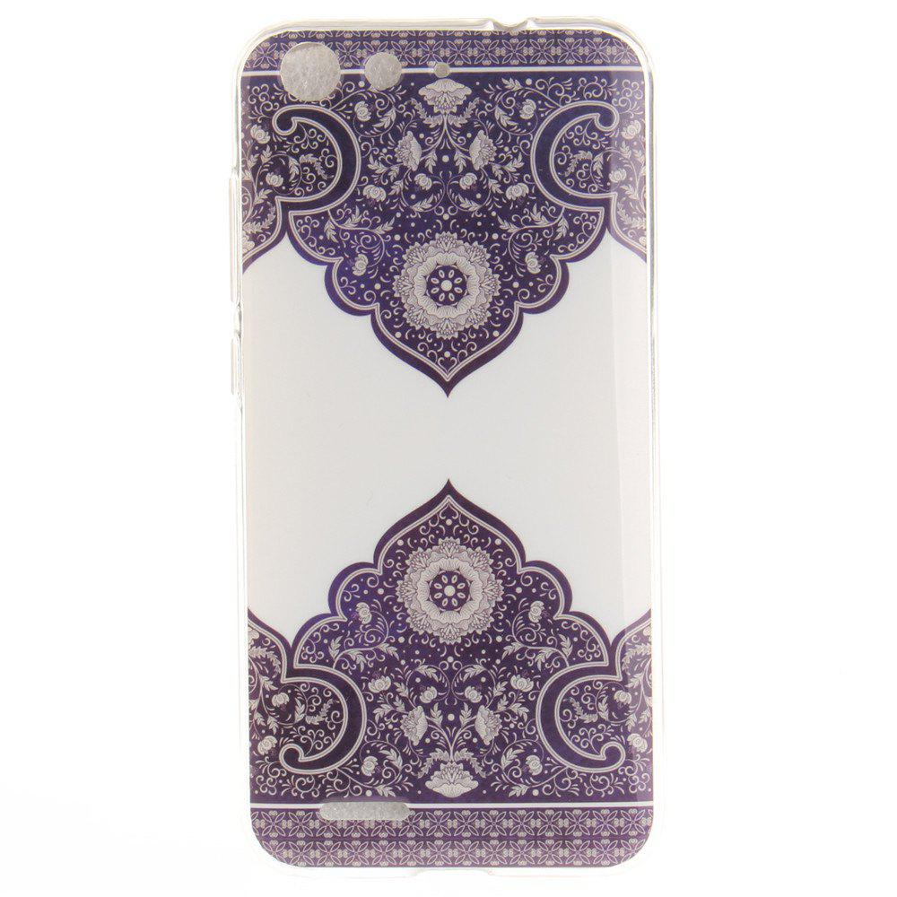 Shop Diagonal Totem Soft Clear IMD TPU Phone Casing Mobile Smartphone Cover Shell Case for ZTE Blade X7 Z7 D6 V6
