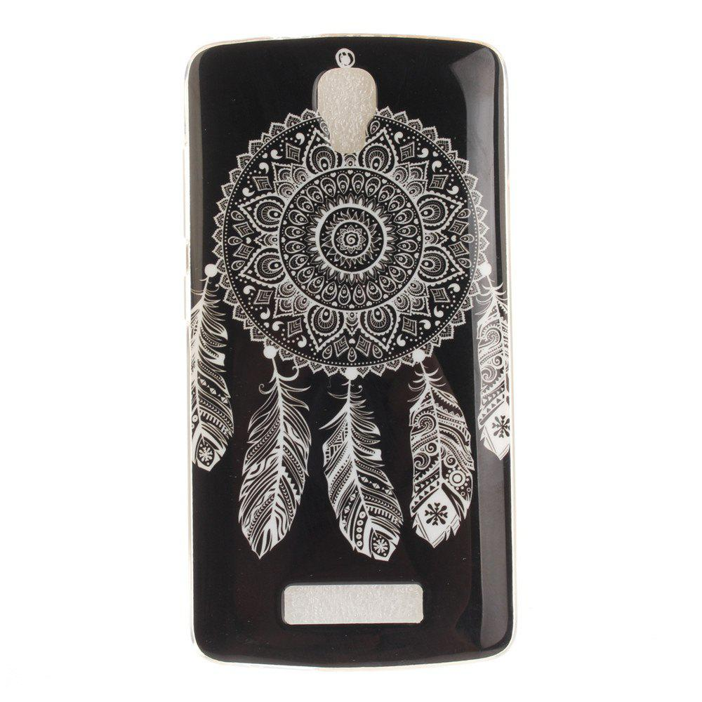 Store Black Wind Chimes Soft Clear IMD TPU Phone Casing Mobile Smartphone Cover Shell Case for ZTE Blade L5 Plus