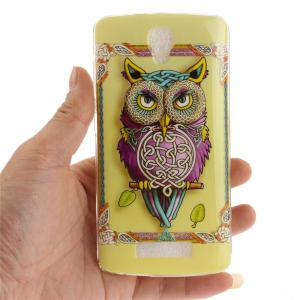 Owl Soft Clear IMD TPU Phone Casing Mobile Smartphone Cover Shell Case for ZTE Blade L5 Plus -