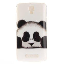 Panda Soft Clear IMD TPU Phone Casing Mobile Smartphone Cover Shell Case for ZTE Blade L5 Plus -