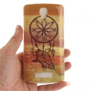 Windbell Pattern Soft Clear IMD TPU Phone Casing Mobile Smartphone Cover Shell Case for ZTE Blade L5 Plus -