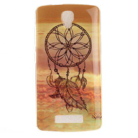 New Windbell Pattern Soft Clear IMD TPU Phone Casing Mobile Smartphone Cover Shell Case for ZTE Blade L5 Plus