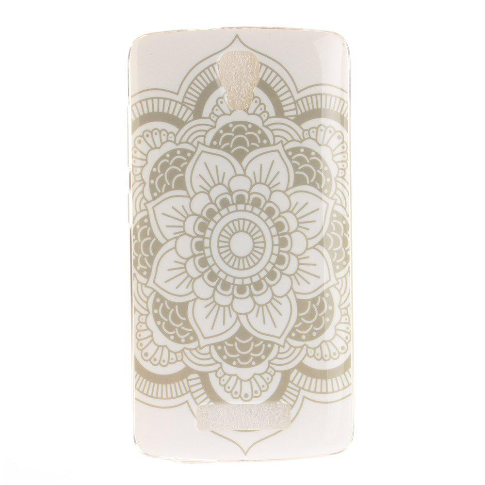 Shop Big White Flower Soft Clear IMD TPU Phone Casing Mobile Smartphone Cover Shell Case for ZTE Blade L5 Plus