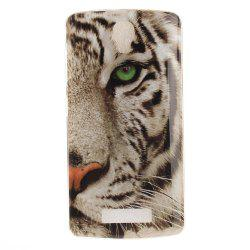 Tiger Soft Clear IMD TPU Phone Casing Mobile Smartphone Cover Shell Case for ZTE Blade L5 Plus -