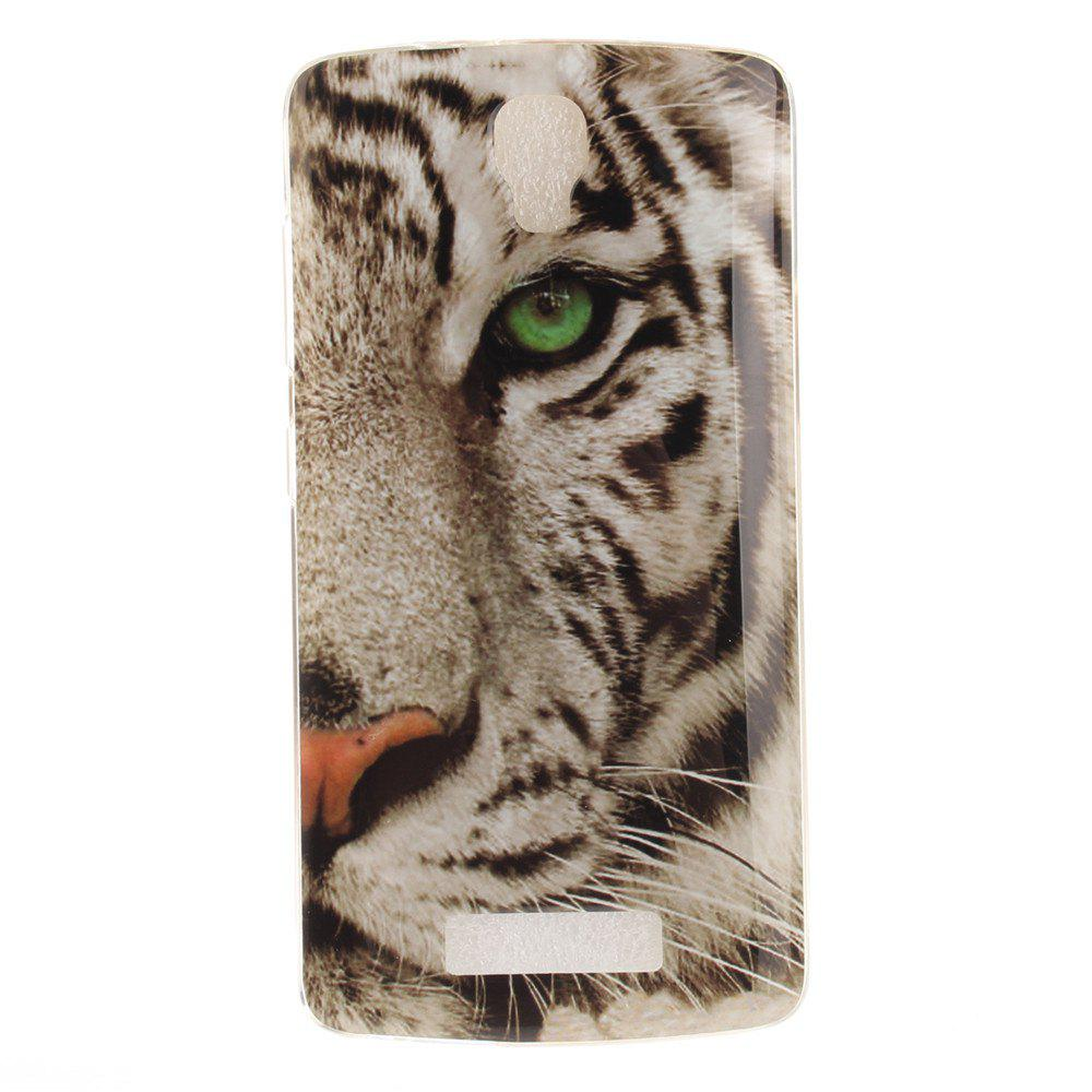 Outfits Tiger Soft Clear IMD TPU Phone Casing Mobile Smartphone Cover Shell Case for ZTE Blade L5 Plus