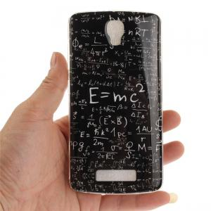 Mathematical Formula Soft Clear IMD TPU Phone Casing Mobile Smartphone Cover Shell Case for ZTE Blade L5 Plus -