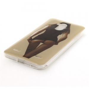 Sexy Girl Soft Clear IMD TPU Phone Casing Mobile Smartphone Cover Shell Case for ZTE Blade V7 Lite -