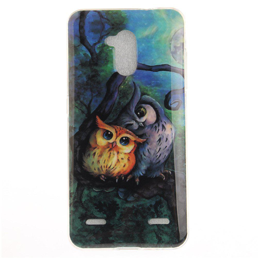 Unique Oil Painting Owl Soft Clear IMD TPU Phone Casing Mobile Smartphone Cover Shell Case for ZTE Blade V7 Lite