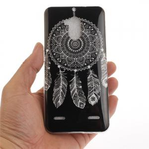 Black Wind Chimes Soft Clear IMD TPU Phone Casing Mobile Smartphone Cover Shell Case for ZTE Blade V7 Lite -