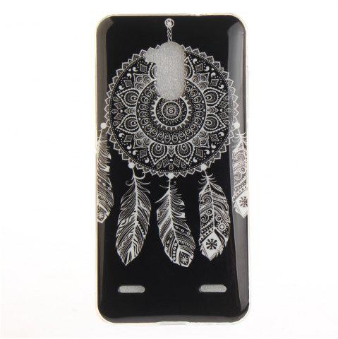 Hot Black Wind Chimes Soft Clear IMD TPU Phone Casing Mobile Smartphone Cover Shell Case for ZTE Blade V7 Lite