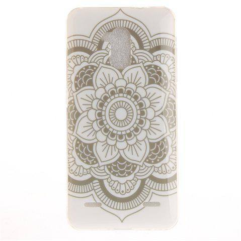 New Big White Flower Soft Clear IMD TPU Phone Casing Mobile Smartphone Cover Shell Case for ZTE Blade V7 Lite