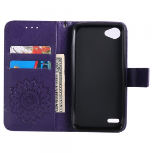 Sun Flower Printing Design Pu Leather Flip Wallet Lanyard Protective Case for LG Q6 / G6 Mini -