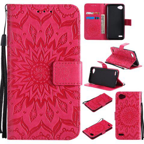 Buy Sun Flower Printing Design Pu Leather Flip Wallet Lanyard Protective Case for LG Q6 / G6 Mini