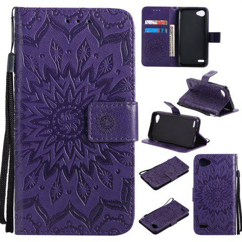 Best Sun Flower Printing Design Pu Leather Flip Wallet Lanyard Protective Case for LG Q6 / G6 Mini