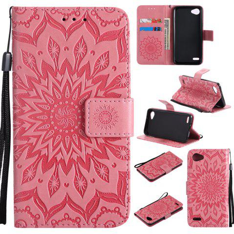 Affordable Sun Flower Printing Design Pu Leather Flip Wallet Lanyard Protective Case for LG Q6 / G6 Mini