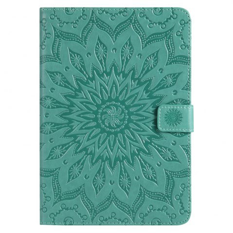 Trendy Sun Flower Printing Design Pu Leather Flip Wallet Lanyard Protective Case for iPad Mini 1 / 2 / 3