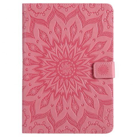 Outfit Sun Flower Printing Design Pu Leather Flip Wallet Lanyard Protective Case for iPad Mini 1 / 2 / 3
